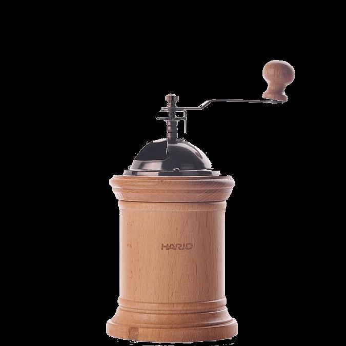 Инвентарь для бариста - Кофемолка Деревянная Круглая Керамик